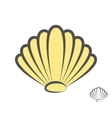sea shell logo or icon vector image
