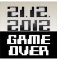 Game Over vector image