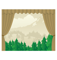 Wilderness Scene Stagejpg vector image vector image
