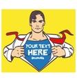 Super hero nice drawing male businessman pop art vector image vector image