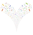 Edit Pencil Double Fireworks Stream vector image