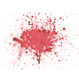 Blood watercolor vector image vector image