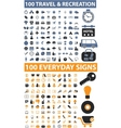 200 travel everyday signs vector image