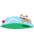 Cute dog and a ball vector image vector image