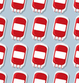 Blood donation transfusion bag pattern Medical vector image