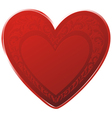 floral heart icon vector image vector image
