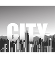 black and white cityscape background vector image vector image