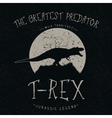T-Rex growls at the moon vector image