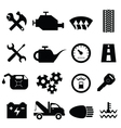 Mechanic workshop icons vector image vector image