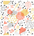 abstract memphis seamless pattern romantic vector image