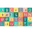 Alphabet Vacation Flat Design Concept vector image
