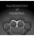 Background of Metal Brassknuckles vector image