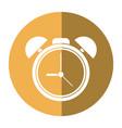 clock time watch alarm shadow vector image
