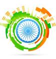 Creative indian flag design vector image