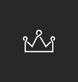 Crown thin line icon overlapping design element vector image