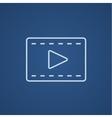 Film frame line icon vector image