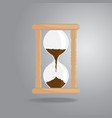 hourglass old vintage icon flat style on gray vector image
