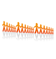 Rows of men vector image