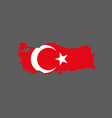 turkey flag and map vector image
