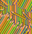 pencils background vector image