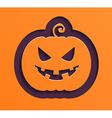 Happy Halloween paper pumpkin vector image vector image