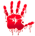Bloody hand vector image