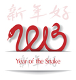 Year of the Snake 2013 applique background vector image