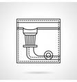 Billiard pocket flat line icon vector image