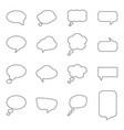 set of blank speech bubbles vector image