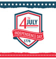 independence day of the united states poster set vector image