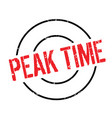 peak time rubber stamp vector image