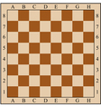 Chess board without chess pieces vector image