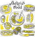 american food vector image