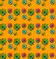 seamless pattern with bee - 2 vector image