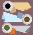 Coffee Cups With Paper Notes vector image vector image