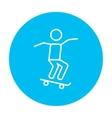 Man riding on skateboard line icon vector image vector image
