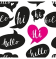 Speech bubbles with Hello word seamless pattern vector image