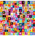 pattern with letters of alphabet vector image vector image