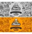 restaurant cafe menu template design hand drawn vector image