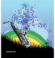saxophone with circles vector image