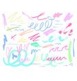pastel colour doodle background vector image