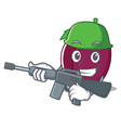 army plum character cartoon style vector image