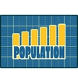 Chart diagram symbolized by population growth vector image