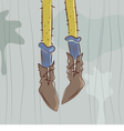 Dangling feet vector image