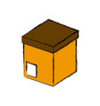 delivery cardboard box vector image