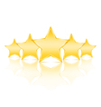 Five Golden Stars vector image