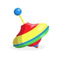 flat rotatin whirligig yule toy isolated vector image