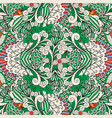 floral ornamental pattern with outline swirls vector image