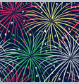 ink hand drawn seamless pattern with fireworks vector image