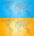 Point Line World Map vector image